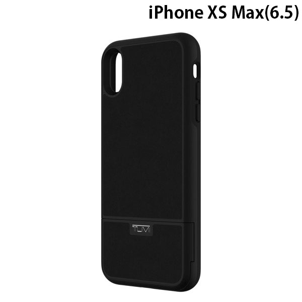 TUMI iPhone XS Max Kickstand Card Case - Black Leather