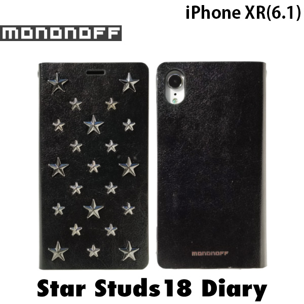 mononoff iPhone XR Star Studs diary ブラック