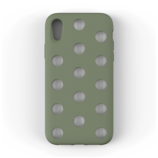 AndMesh iPhone XR Layer Case Clay Green