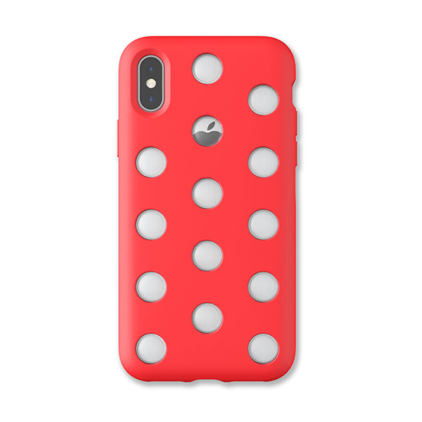 AndMesh iPhone XS / X Layer Case Bright Red