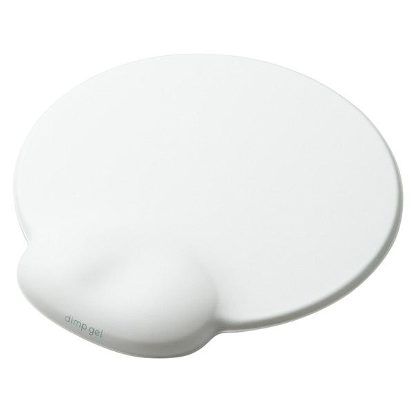 """エレコム リストレスト付き マウスパッド """"dimp gel"""" ホワイト"""