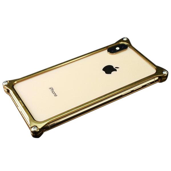 GILD design iPhone XS Max ソリッドバンパー シグネイチャーゴールド