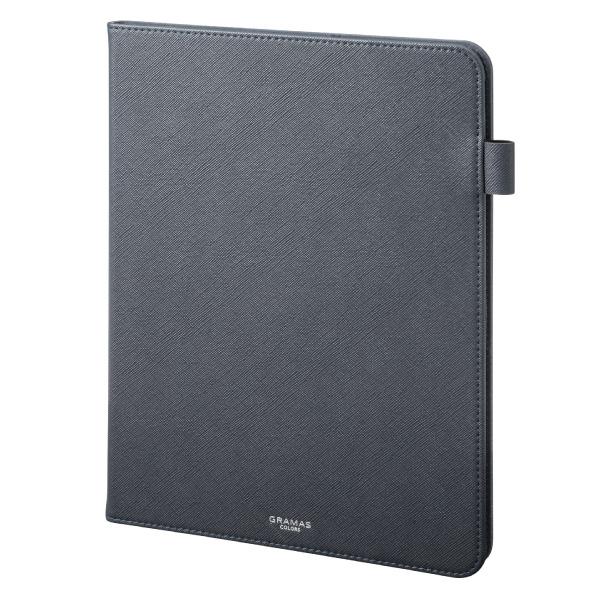 """GRAMAS 11インチ iPad Pro COLORS """"EURO Passione"""" 手帳型 PU レザーケース ネイビー"""