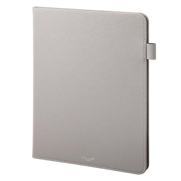 """GRAMAS 11インチ iPad Pro COLORS """"EURO Passione"""" 手帳型 PU レザーケース グレイ"""