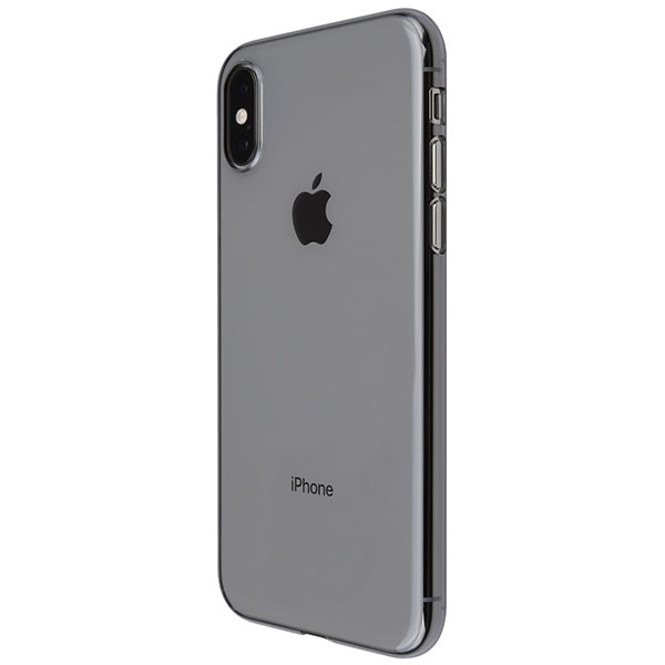 PowerSupport iPhone XS エアージャケット Clear Black
