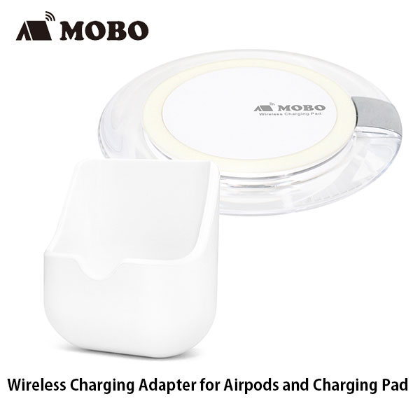 MOBO Wireless Charging Adapter for AirPods 5W and Charging Pad 最大10W ホワイト