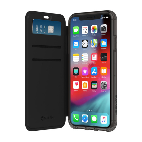 Griffin Technology iPhone XS / X Survivor Clear Wallet Black/Clear