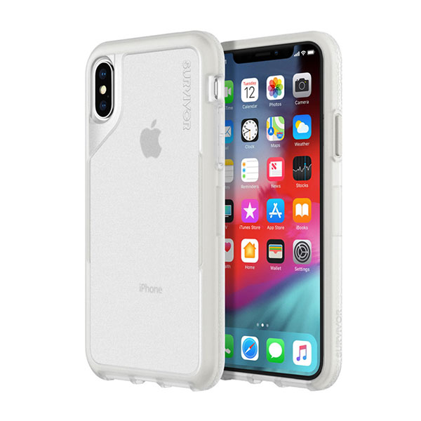 Griffin Technology iPhone XS / X Survivor Endurance Clear/Gray