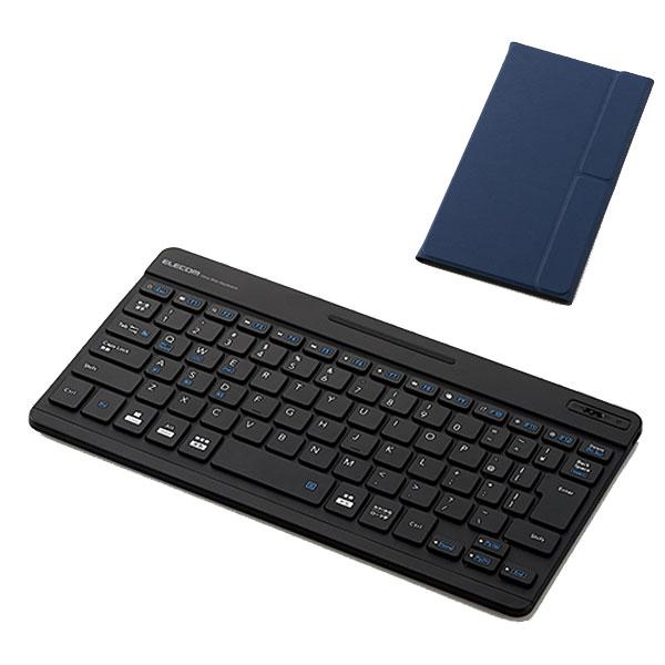 エレコム ワイヤレス Bluetooth ウルトラスリムキーボード パンタグラフ方式 日本語配列 82キー ブルー