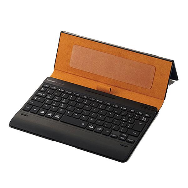 エレコム タブレットケース付き Vluno ワイヤレス Bluetooth キーボード バックライト搭載 ブルー
