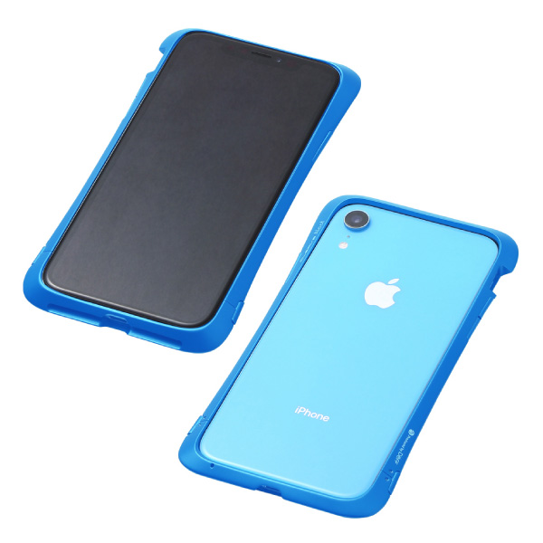 Deff iPhone XR CLEAVE Aluminum Bumper Aloof ブルー
