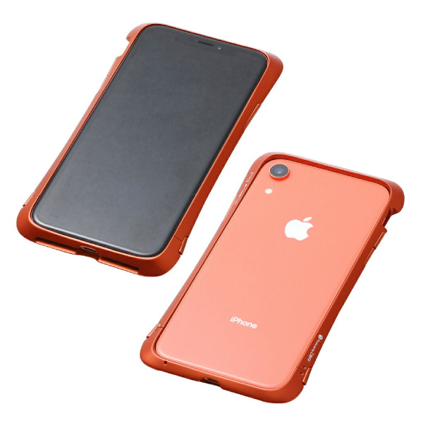 Deff iPhone XR CLEAVE Aluminum Bumper Aloof オレンジ