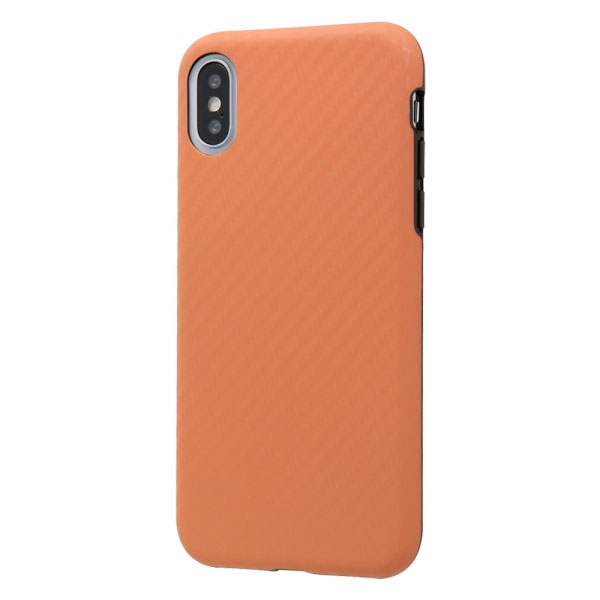 Ray Out iPhone XS / X TPU 耐衝撃Light Carbon カーボンオレンジ