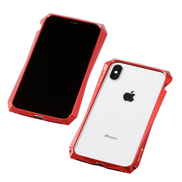 Deff iPhone XS / X CLEAVE Aluminum Bumper 180 レッド
