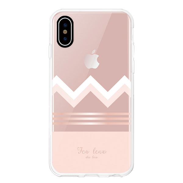 Comma iPhone XS Max Concise Case Rose gold