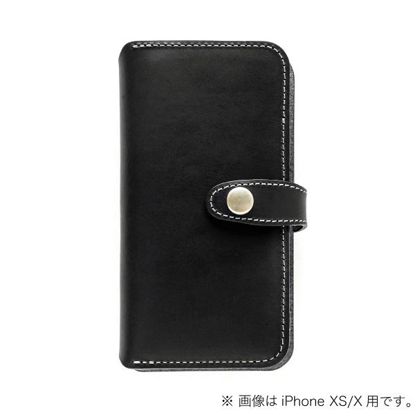 buzzhouse design iPhone XR 手帳型 ハンドメイドレザーケース ブラック