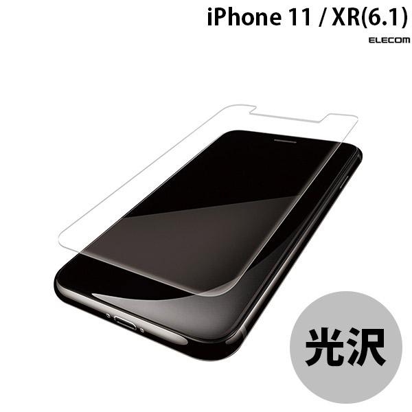 エレコム iPhone 11 / XR フルカバーフィルム 光沢