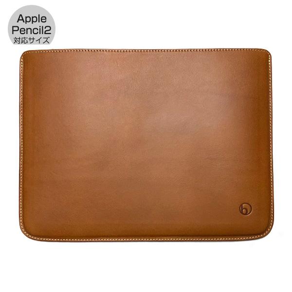 buzzhouse design 12.9インチ iPad Pro 第3 / 4世代 ハンドメイドレザーケース (Apple Pencil 2 対応サイズ) ブラウン