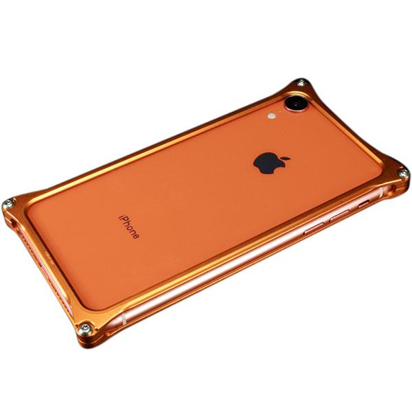 GILD design iPhone XR ソリッドバンパー コーラルオレンジ