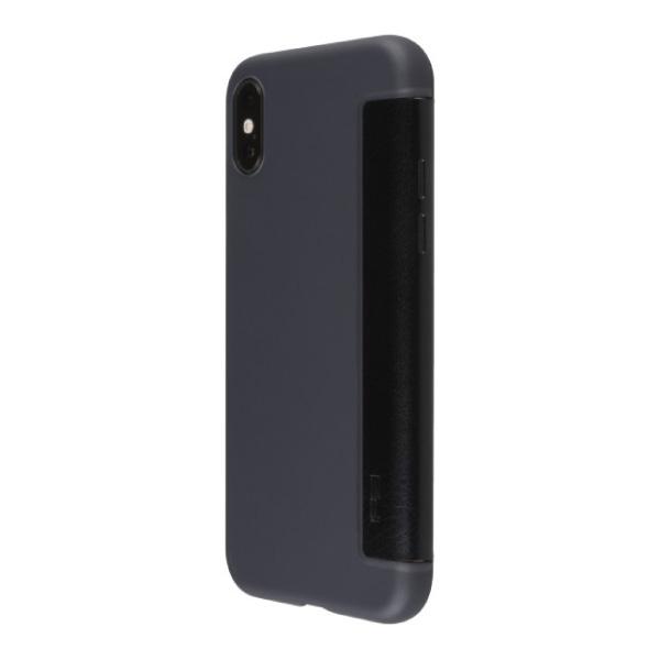 PowerSupport iPhone XS Air jacket Flip エアージャケット フリップ ブラック