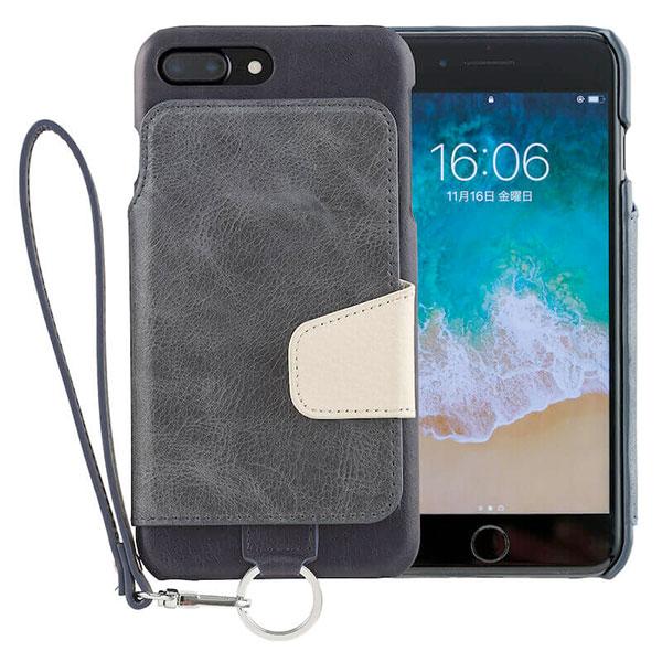 RAKUNI iPhone 8 Plus / 7 Plus Leather Case Indigo Blue