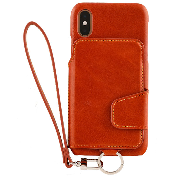 RAKUNI iPhone XS / X Leather Case Caramel