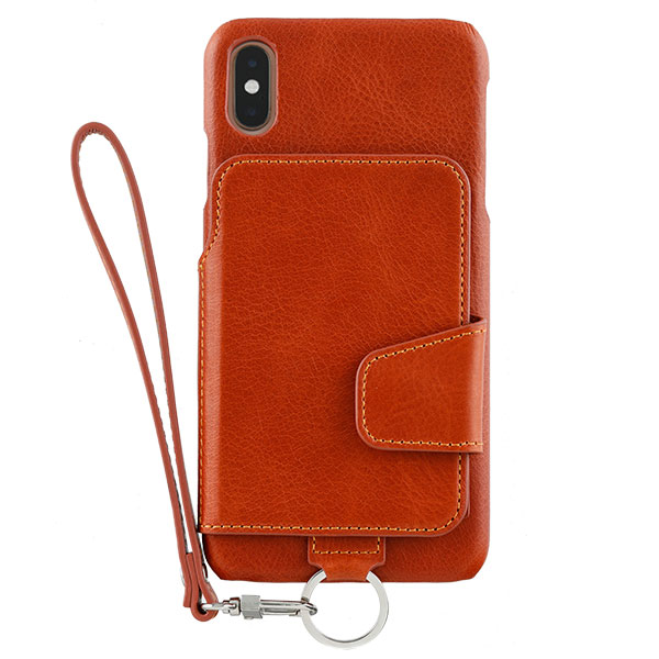 RAKUNI iPhone XS Max Leather Case CaramelBrown