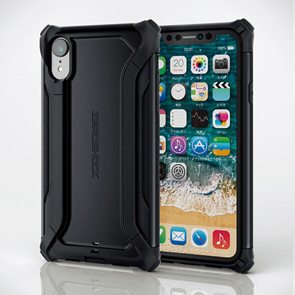 77f6bc40c0 エレコム iPhone XR 用 ZEROSHOCK Alpha ブラック # PM-A18CZEROHBK ...