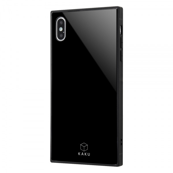 ingrem iPhone XS Max 耐衝撃ガラスケース KAKU ブラック