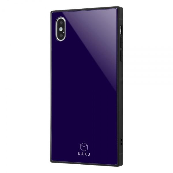 ingrem iPhone XS Max 耐衝撃ガラスケース KAKU ダークネイビー