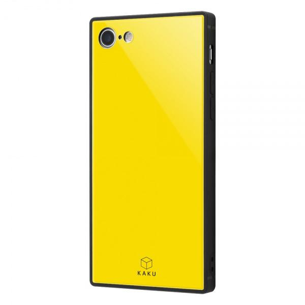 ingrem iPhone 8 / 7 耐衝撃ガラスケース KAKU イエロー