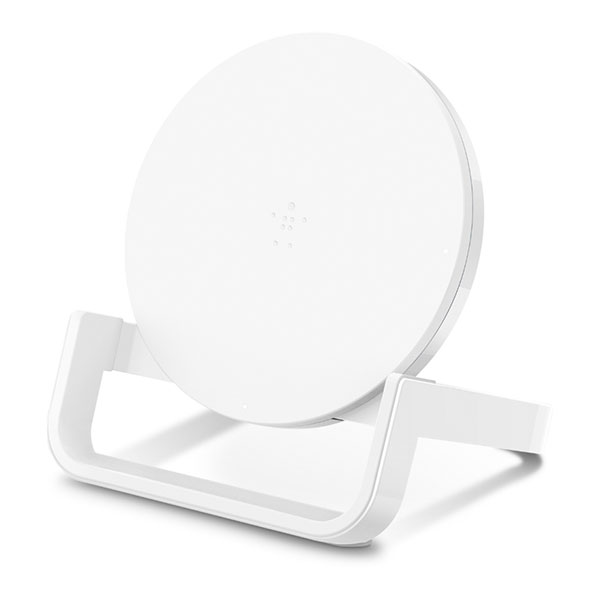 BELKIN BOOST↑UP Qi 高速充電対応 専用ACアダプター付 ワイヤレス充電スタンド 10W ホワイト
