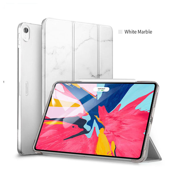 ESR 11インチ iPad Pro ウルトラスリム Smart Folio Case Magnetic ホワイトマーブル