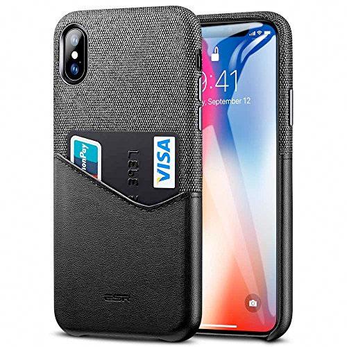 ESR iPhone XS / X Metro Wallet Case PUレザー カードポケット付き ブラック