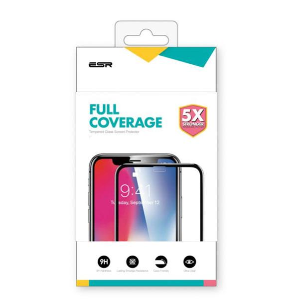 ESR iPhone XS / X 3D Fullcover Glass Film 9H 5倍強化 ブラック