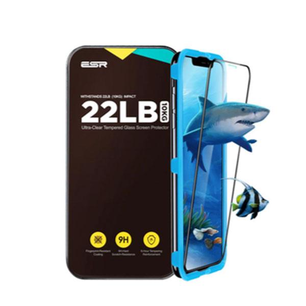 ESR iPhone XS / X 3D Fullcover Glass Film 9H 5倍強化 ガイドフレーム付き ブラック