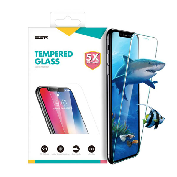 ESR iPhone XR Glass Film 9H 5倍強化 クリア