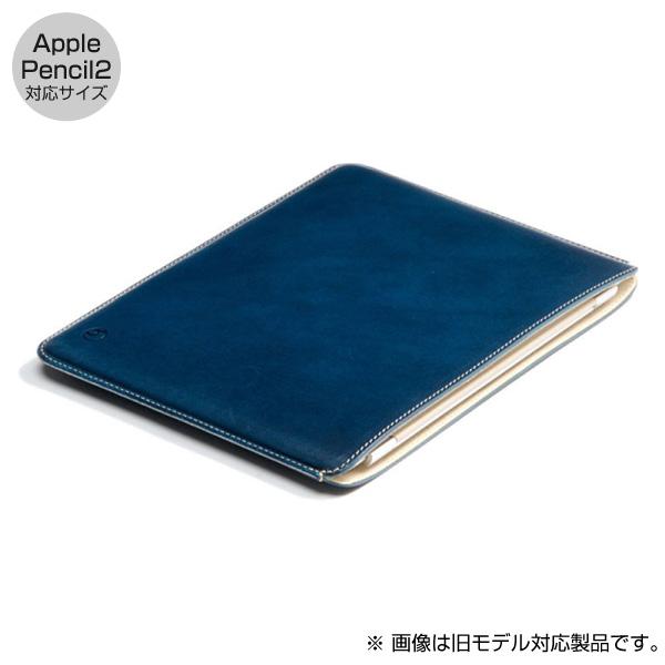 buzzhouse design 11インチ iPad Pro ハンドメイドレザーケース (Apple Pencil 2 対応サイズ) ブルー (受注生産)