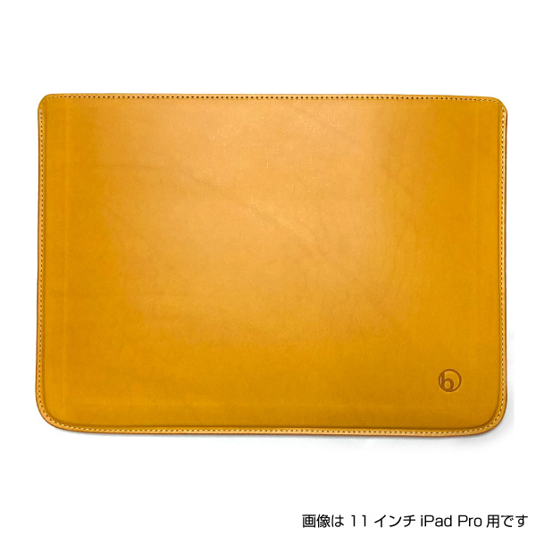 buzzhouse design 12.9インチ iPad Pro 第3世代 ハンドメイドレザーケース (ノーマルサイズ) ワイルドイエロー (受注生産)