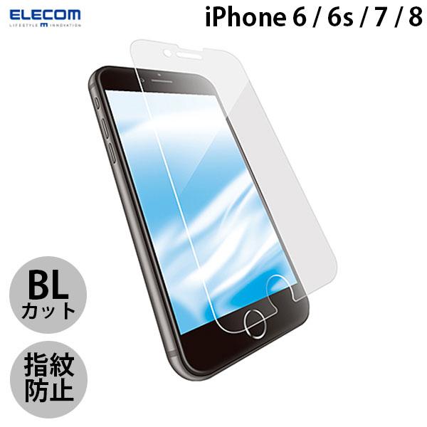 エレコム iPhone 8 / 7 / 6s / 6 ガラスフィルム セラミックコート ブルーライトカット