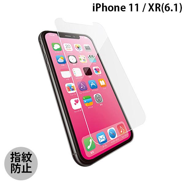 エレコム iPhone 11 / XR ガラスフィルム セラミックコート ブルーライトカット