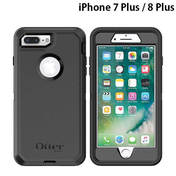 OtterBox iPhone 8 Plus / 7 Plus Defender Series Black