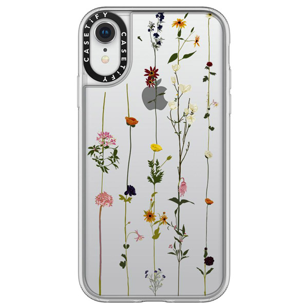 Casetify iPhone XR grip clear FLORAL