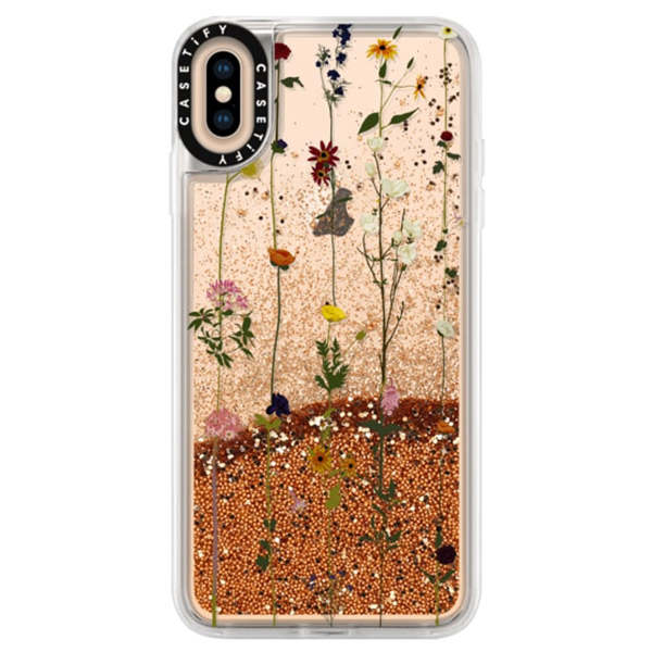 Casetify iPhone XS Max glitter Floral case