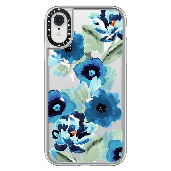 Casetify iPhone XR grip painted graphic floral