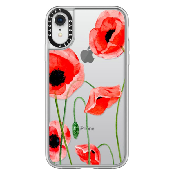 Casetify iPhone XR grip Red poppies