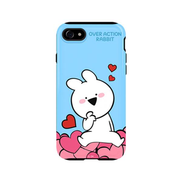 DK iPhone SE 第2世代 / 8 / 7 すこぶる動くウサギ グロッシー エディションケース TH-103