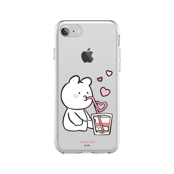 DESIGN CASE iPhone 8 / 7 すこぶる動くウサギ クリアケース TJ-002