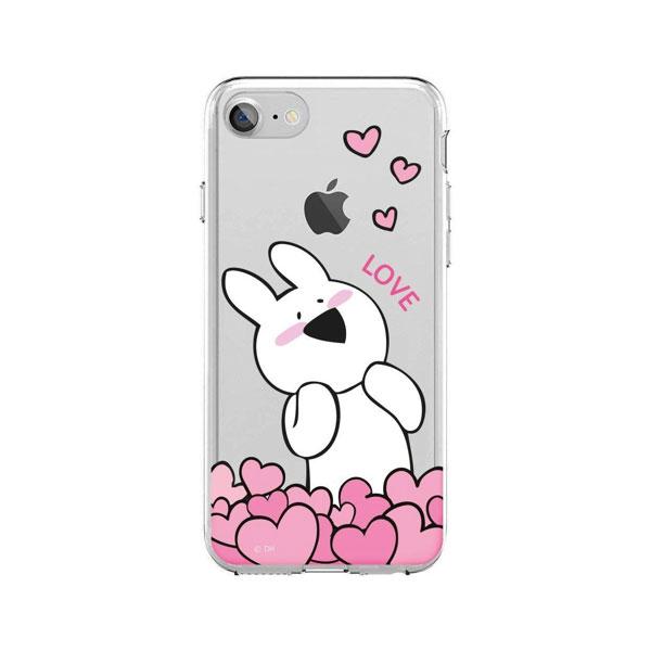 DESIGN CASE iPhone 8 / 7 すこぶる動くウサギ クリアケース TJ-005