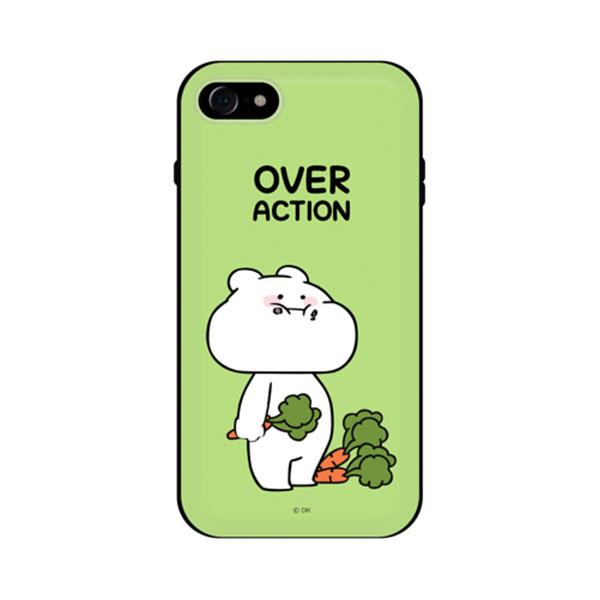 DESIGN CASE iPhone 8 / 7 すこぶる動くウサギ スタンド付カード収納ケース TH-002